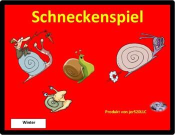 Winter in German Schnecke Snail game