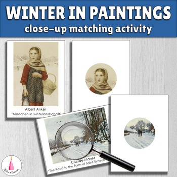 Winter in Paintings Close-Up Matching Activity