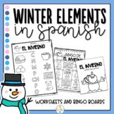 Winter in Spanish Worksheets - El Invierno