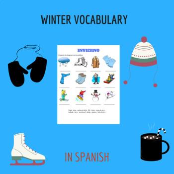 Winter in spanish /vocabulario invierno