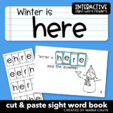 """Interactive Sight Word Reader """"Winter is Here"""""""