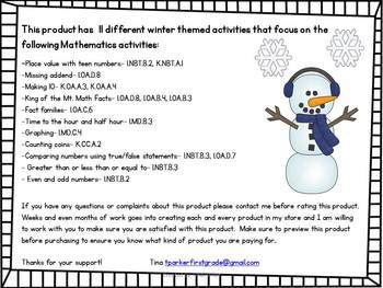 Winter is SNOW Much Fun Math Center Activities