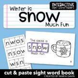 "Interactive Sight Word Reader ""Winter is Snow Much Fun"""