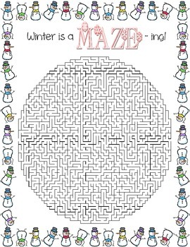 Winter is aMAZEing! ~ Winter Maze