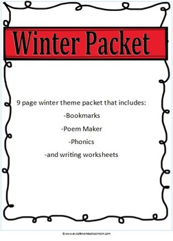 Winter learning Packet