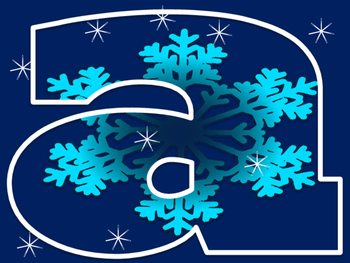 Winter letters and numbers CLIPART