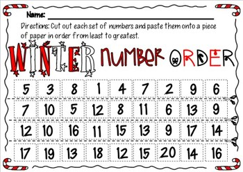 Winter magic - math and literacy packet