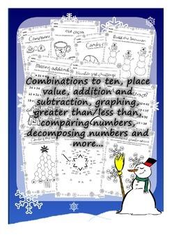 Winter math Activity book