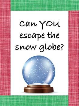 Winter math and ELA escape room!