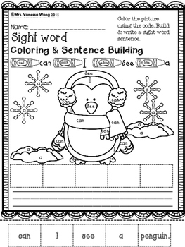 Winter math and literacy worksheets and activities no prep - Kindergarten