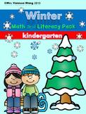 Winter math and literacy worksheets and activities no prep - Kindergarten
