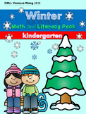 Winter Math and Literacy worksheets and activities for kin