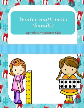 Winter math mats bundle