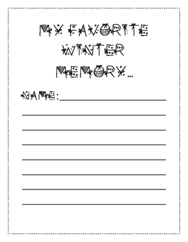 Winter memory writing