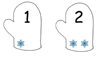 Winter mitten counting 1-10