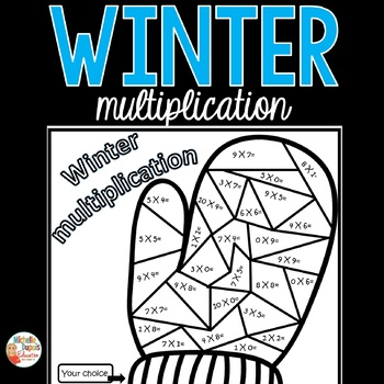 Winter multiplication -  color by number