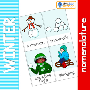 Winter nomenclature cards