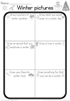 Winter observation sheet