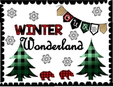 Winter  or Christmas Door Display or Bulletin Board