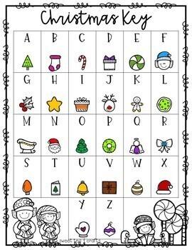 Winter or Christmas Secret Message Puzzles