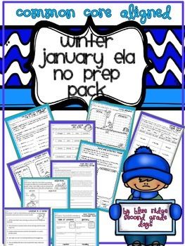 Winter or January No Prep ELA Pack