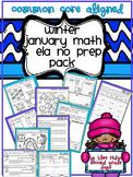 Winter or January No Prep Math and ELA Pack