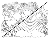 Winter or Spring Coloring Page