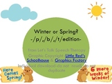 Winter or Spring? P, B, T Articulation edition for Speech Therapy