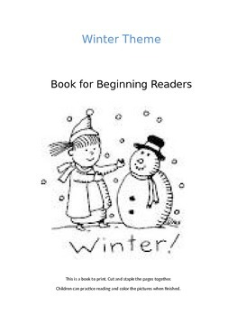 Winter- printable book