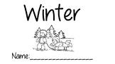 Winter printable book