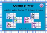 Winter puzzle addition and subtraction open sentence 10-20