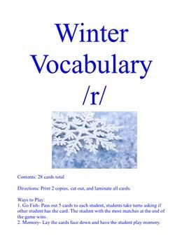 Winter /r/ Articulation