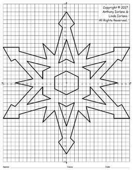 Snowflake Mystery Picture - 4 Quadrants (Winter's Geometry)
