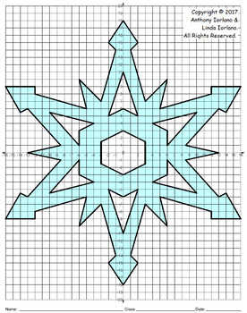Snowflake Mystery Picture - 4 Quadrants (Winter's Geometry)