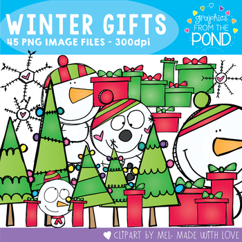 Winter's Gifts - A Scrappy Clipart Set