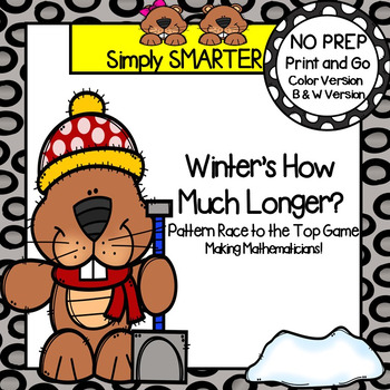 Winter's How Much Longer?:  NO PREP Groundhog Themed Race to the Top Game