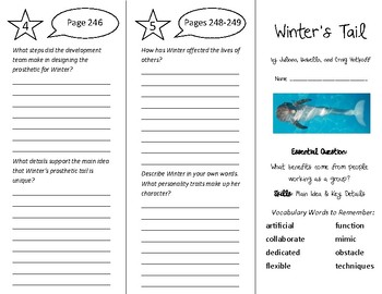Winter's Tail Trifold - Wonders 5th Grade Unit 3 Week 4