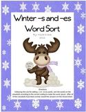 Winter -s and -es Word Sort