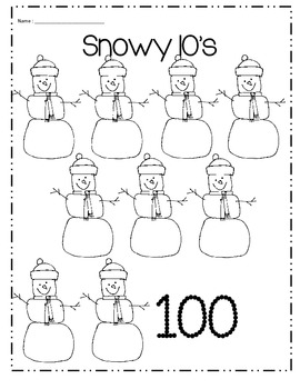 Winter skip counting by 10's