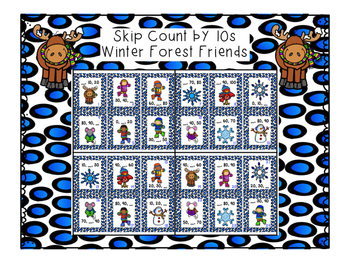 Winter skip counting fun - 2s, 5s and 10s