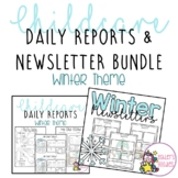 Winter (snowflake) Childcare Daily Reports with Matching N
