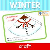 Winter snowman craft