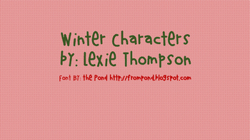Winter characters -FREE!