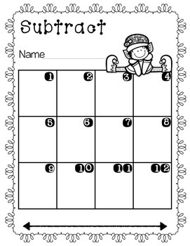 Winter subtract around the room-double digit subtraction {FREEBIE}