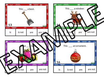 Winter task cards - verb