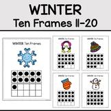 Winter Ten Frames 11-20 (Count the Room)