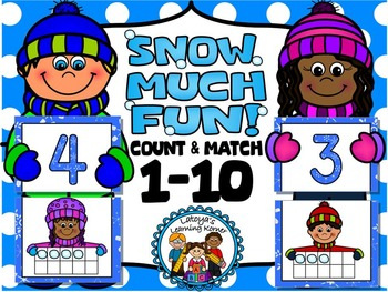 Winter theme-counting 1-10 snowball puzzle