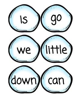 Winter theme - snowball sight words