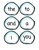 Winter theme - snowball sight words