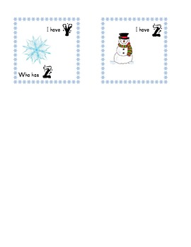 Winter-themed I have, who has ABC cards